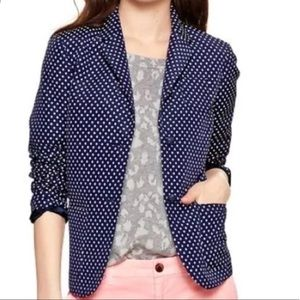 Blue polka dot GAP academy blazer